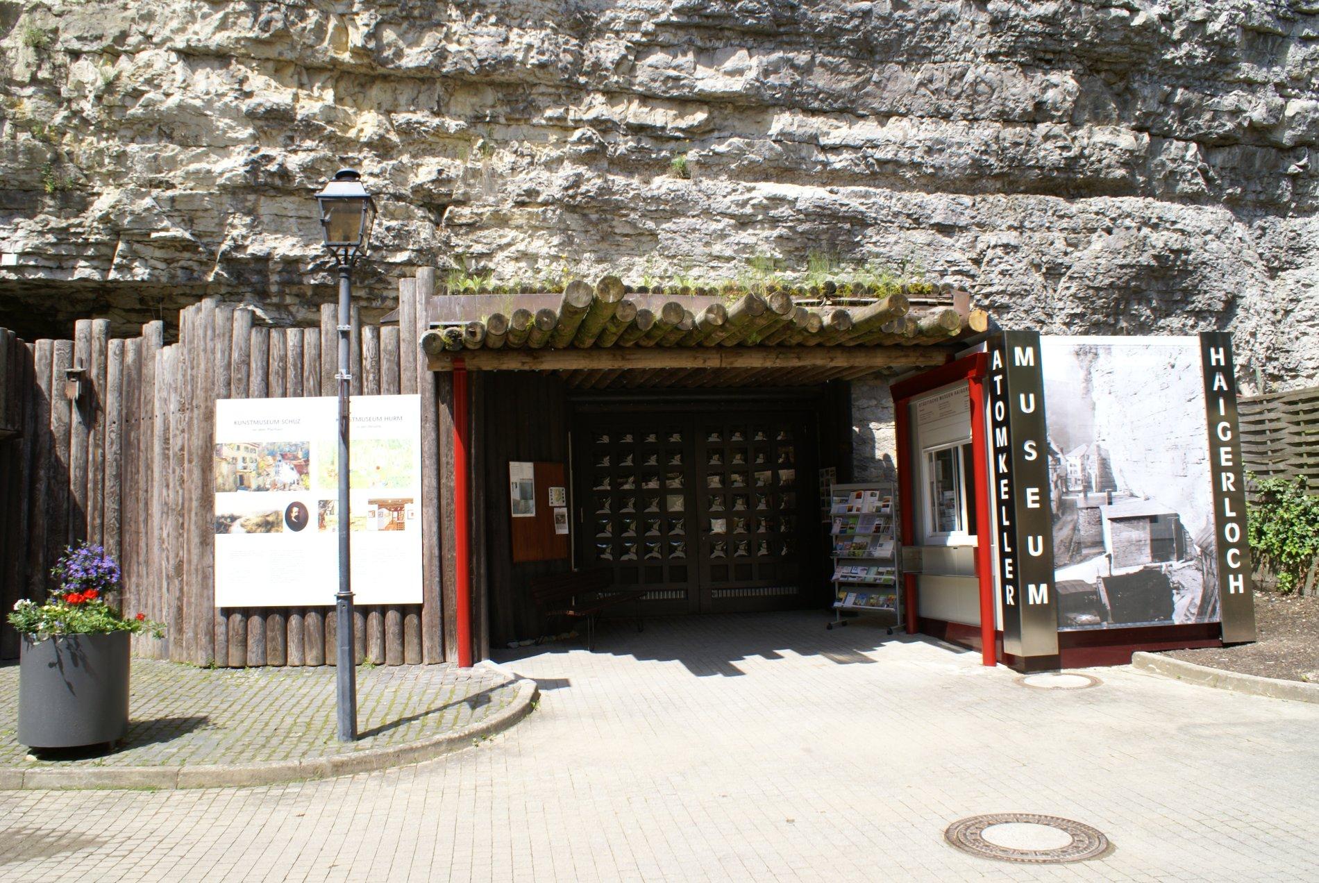 Eingang Atomkeller-Museum