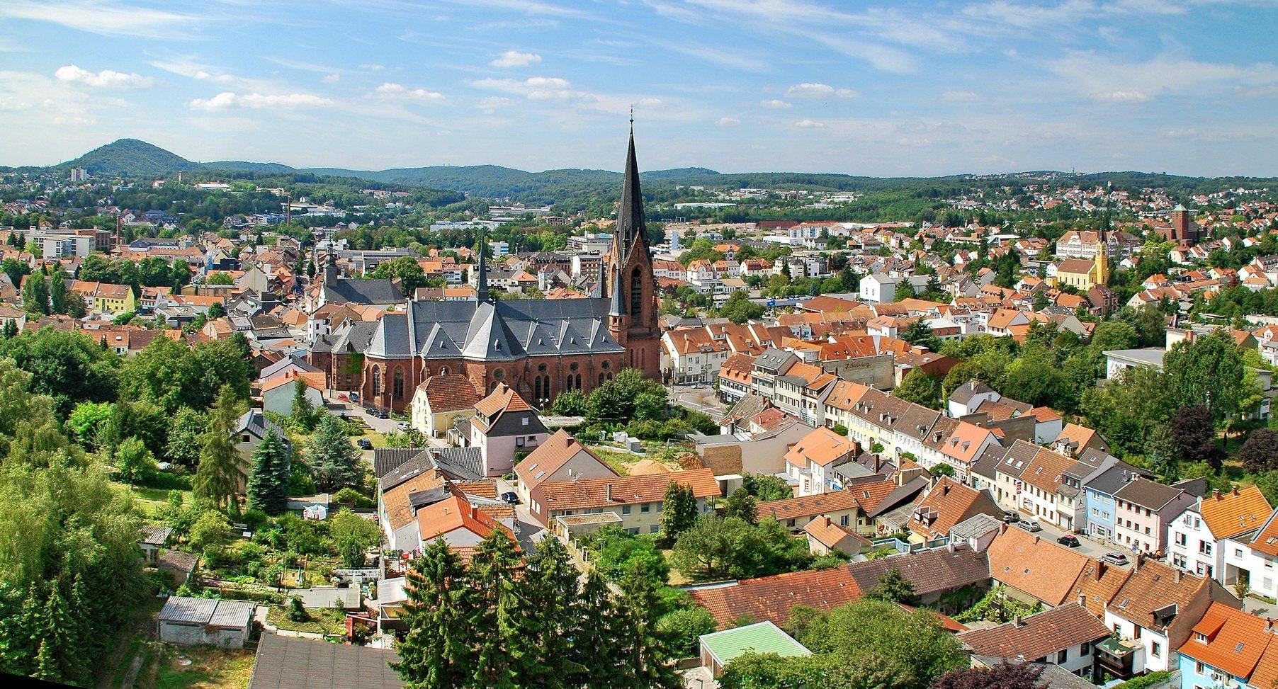 Luftbild Stadt St. Ingbert