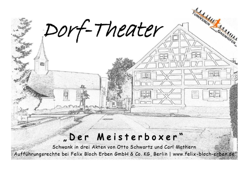 Dorf-Theater 2020 - Wie im richtigen Leben