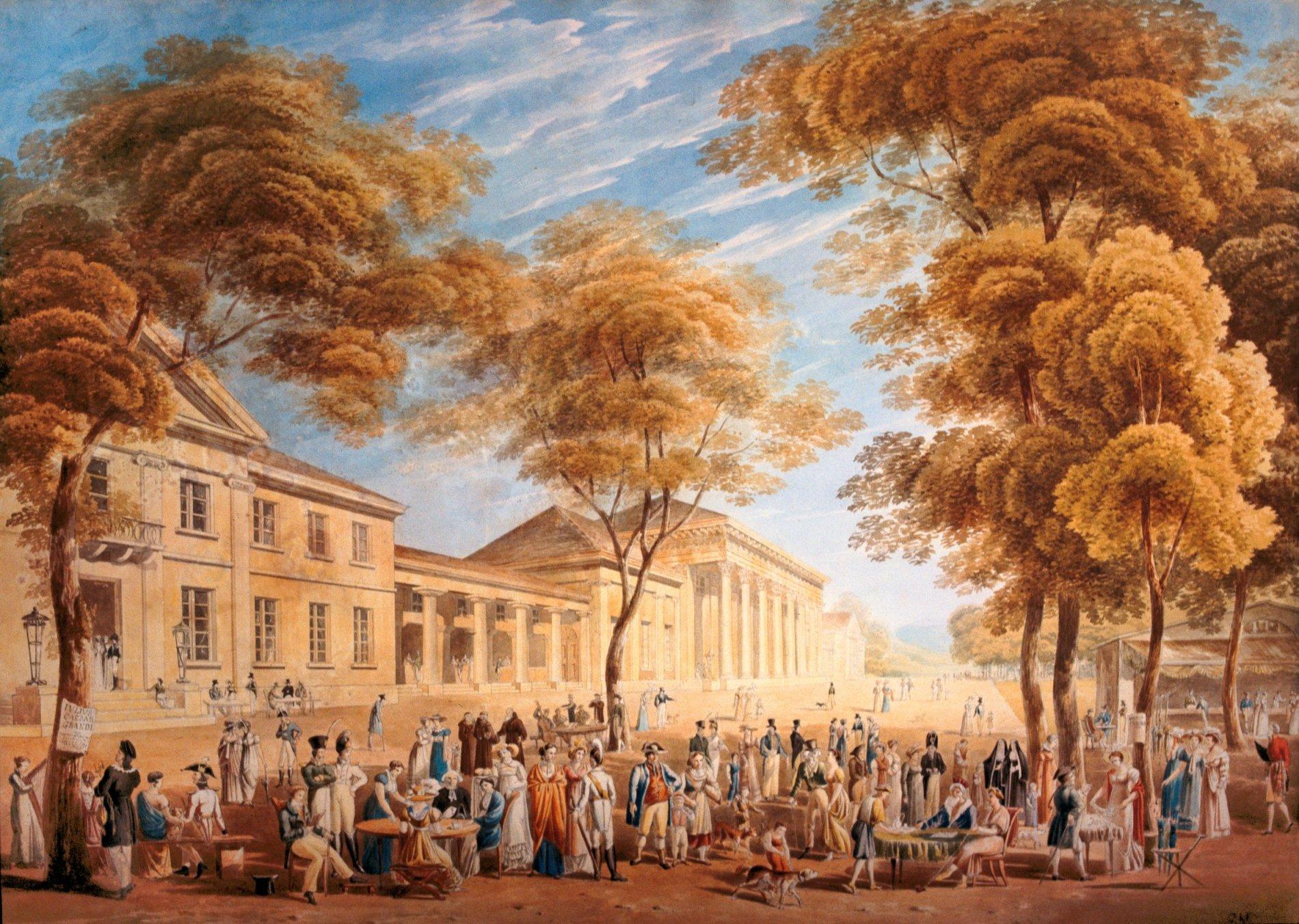 Konversationshaus und Kurgarten, C.L. Frommel um 1825