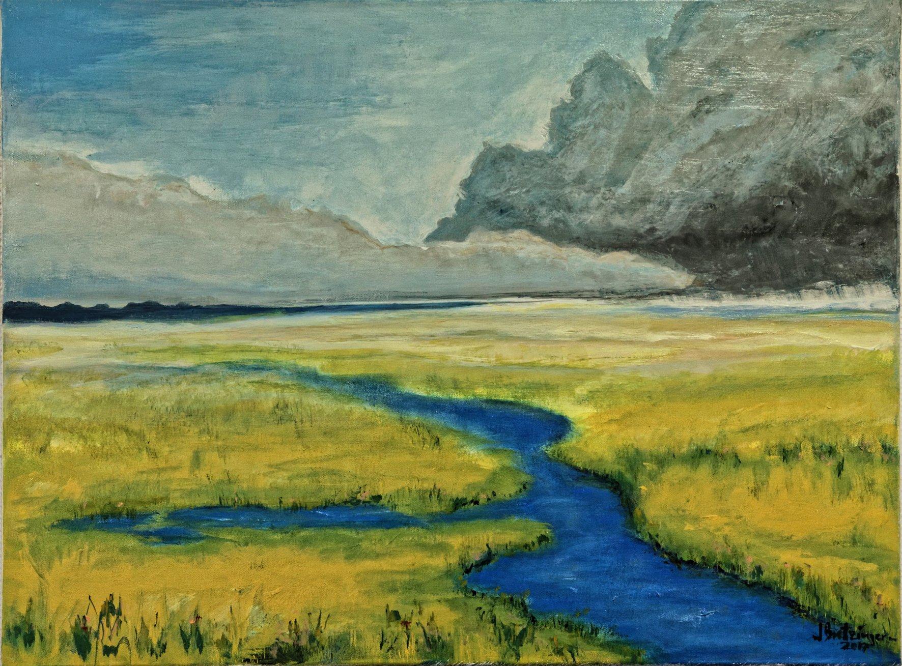 Landschaft mit Fluss, Bild von Jörg Bretzinger