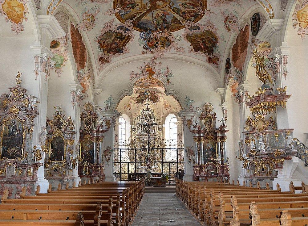 Innenansicht Schlosskirche Haigerloch