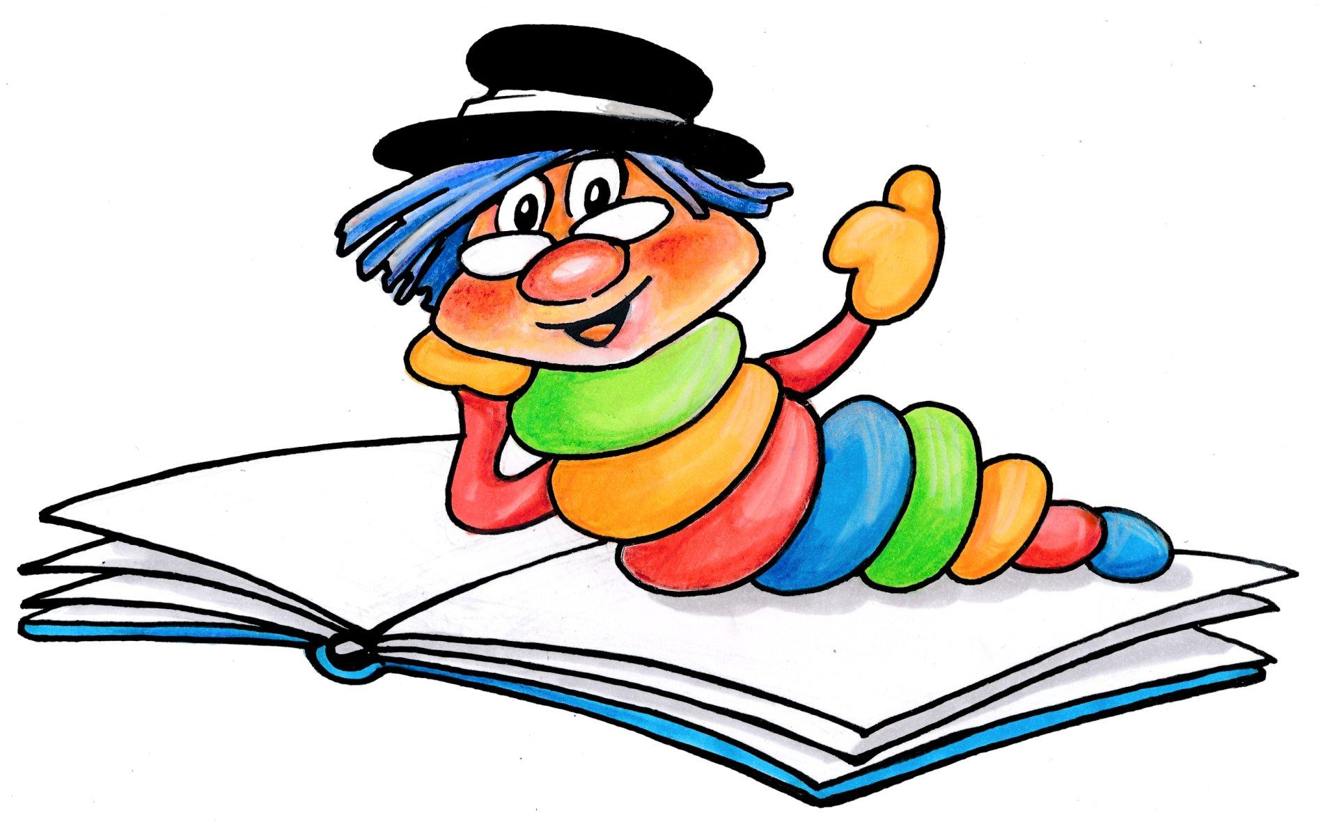 Kinder Lesewurm der Mediathek Kirchzarten