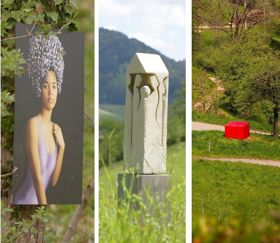 Skulpturen im Grünen im Schwarzwald