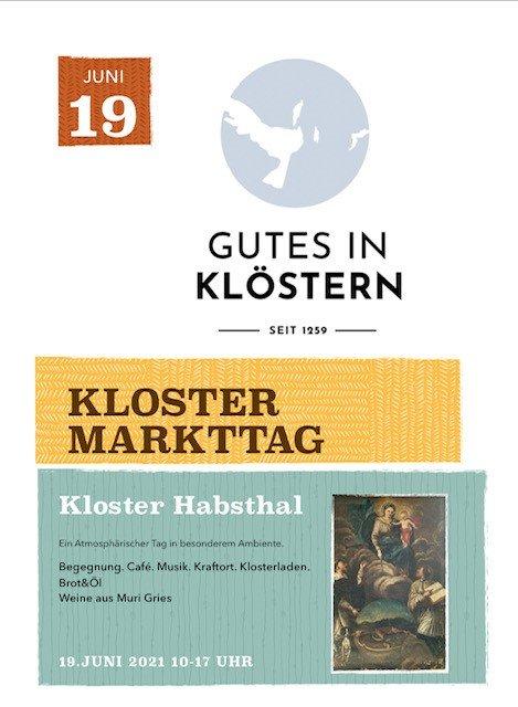 Plakat Kloster Habsthal Markttag