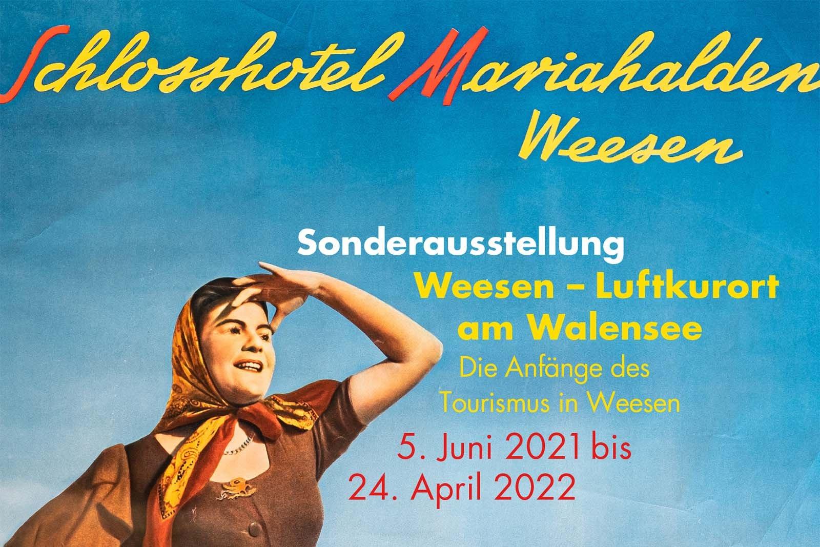 Ausschnitt Plakat Schlosshotel Mariahalden Weesen