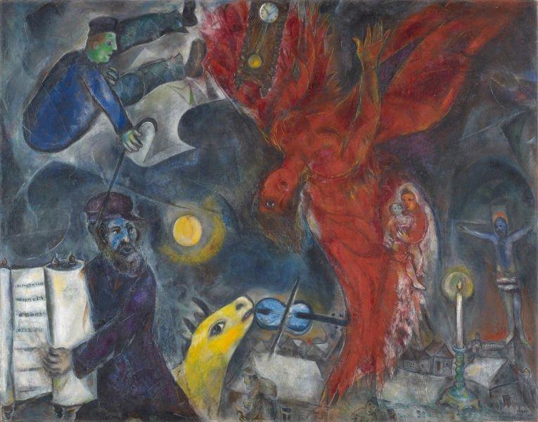 Marc Chagall, Der Engelssturz, 1923-33-47, Depositum aus Privatsammlung-Schirn Kunsthalle