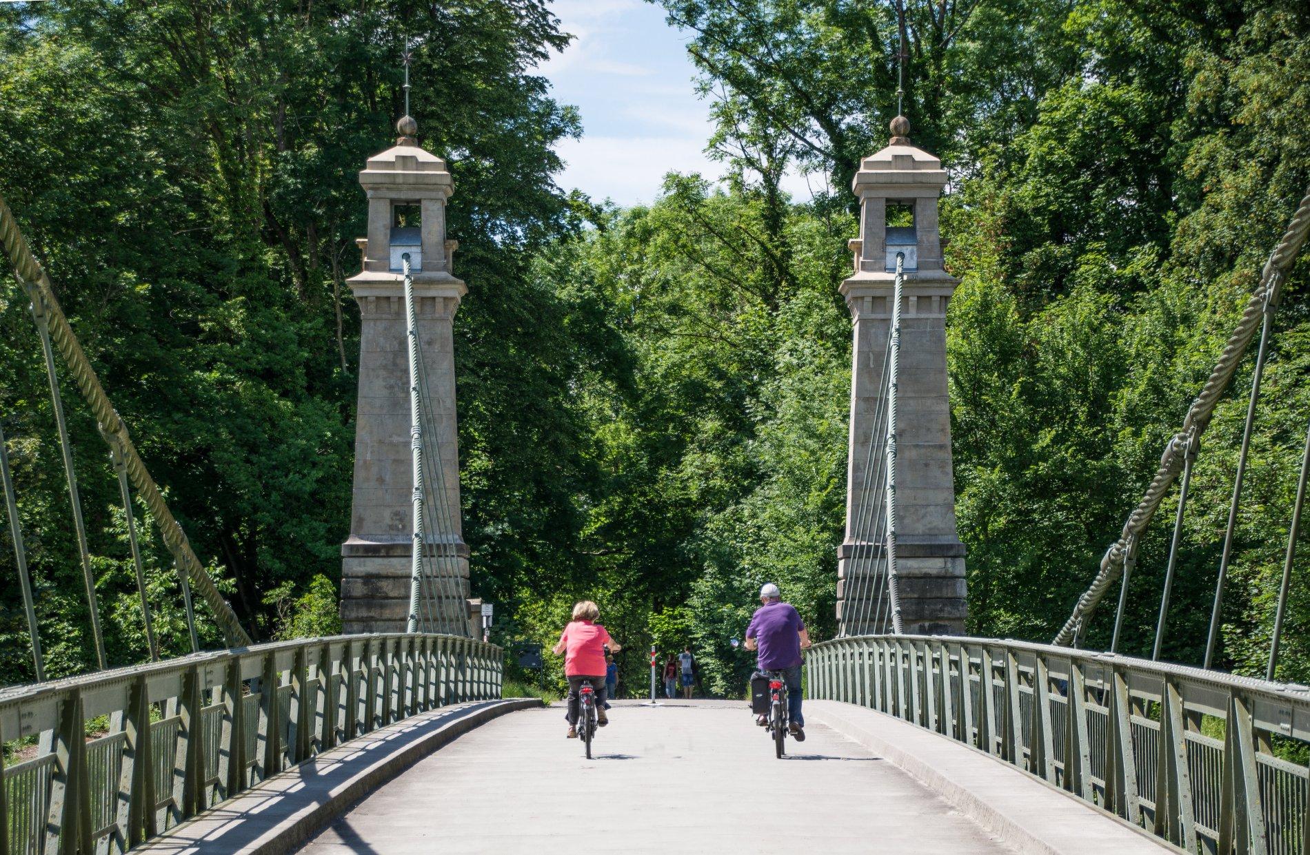 Kabelhängebrücke Fahrrattour