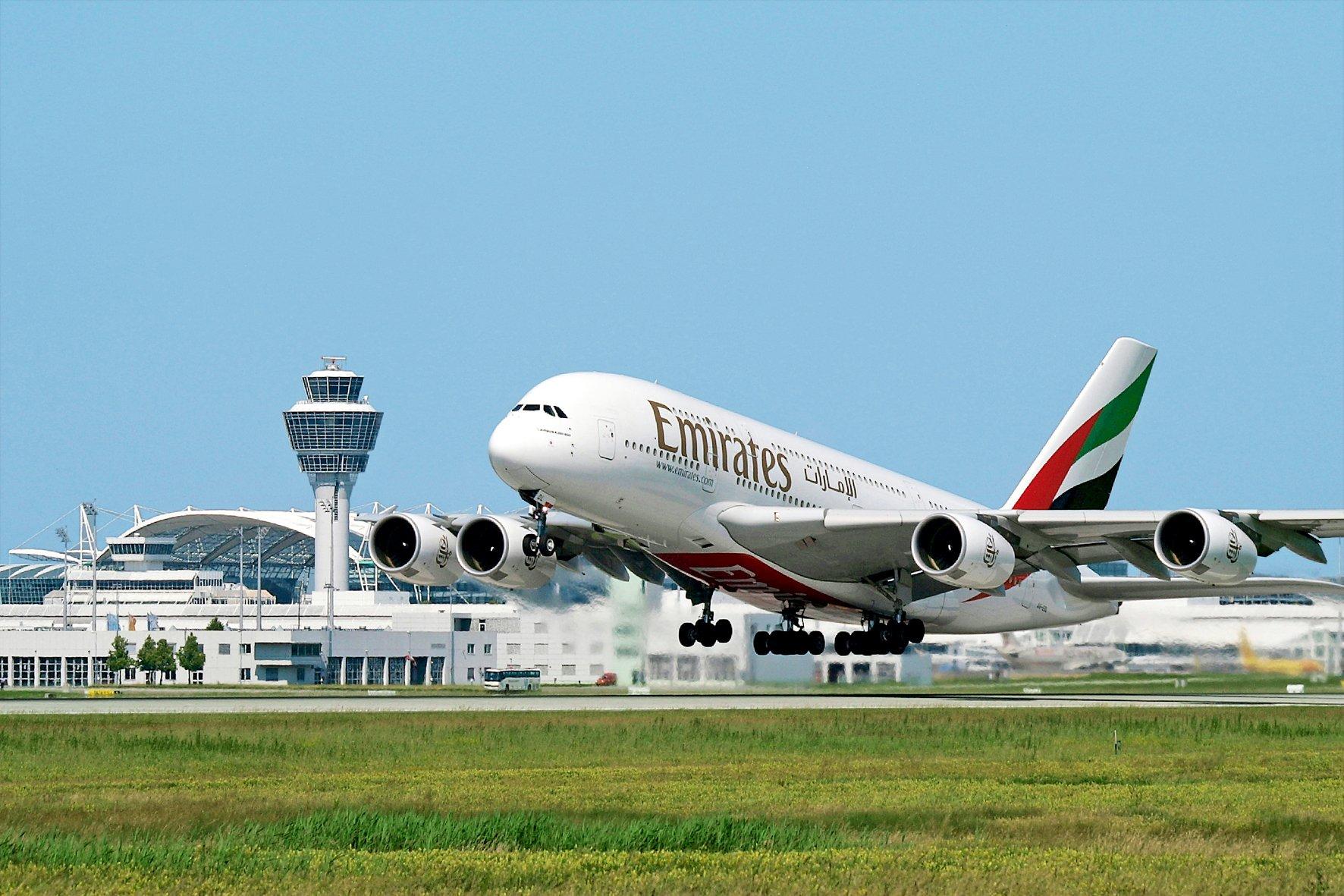Freising Flughafen M nchen Startender A380