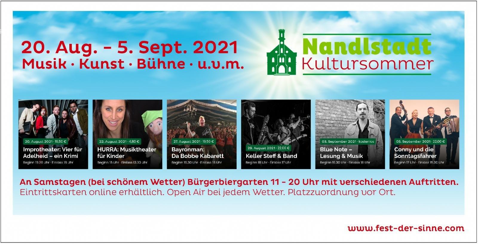 Übersicht Nandlstädter Kultursommer 2021