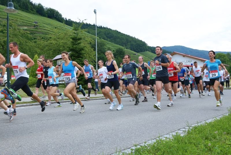 Start des Eichberglaufs in Glottertal