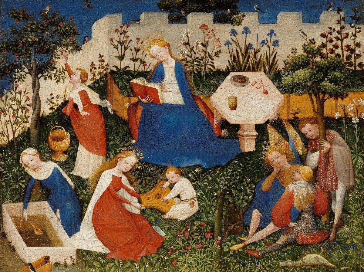 Oberrheinischer Meister Paradiesgärtlein um 1410