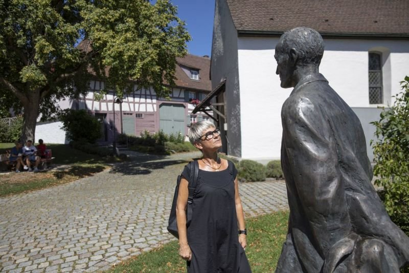 Aussenbereich vor dem Hesse Museum Gaienhofen