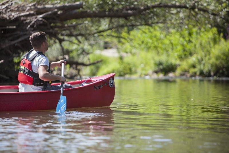 Kanu fahren auf der Blies in der Biosphäre Bliesgau