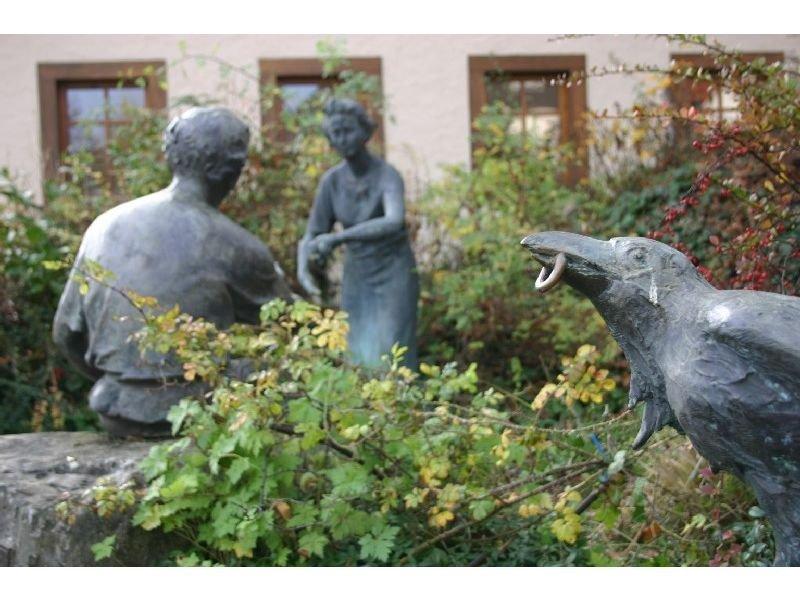 Brunnen in der Dorfmitte von Gundholzen