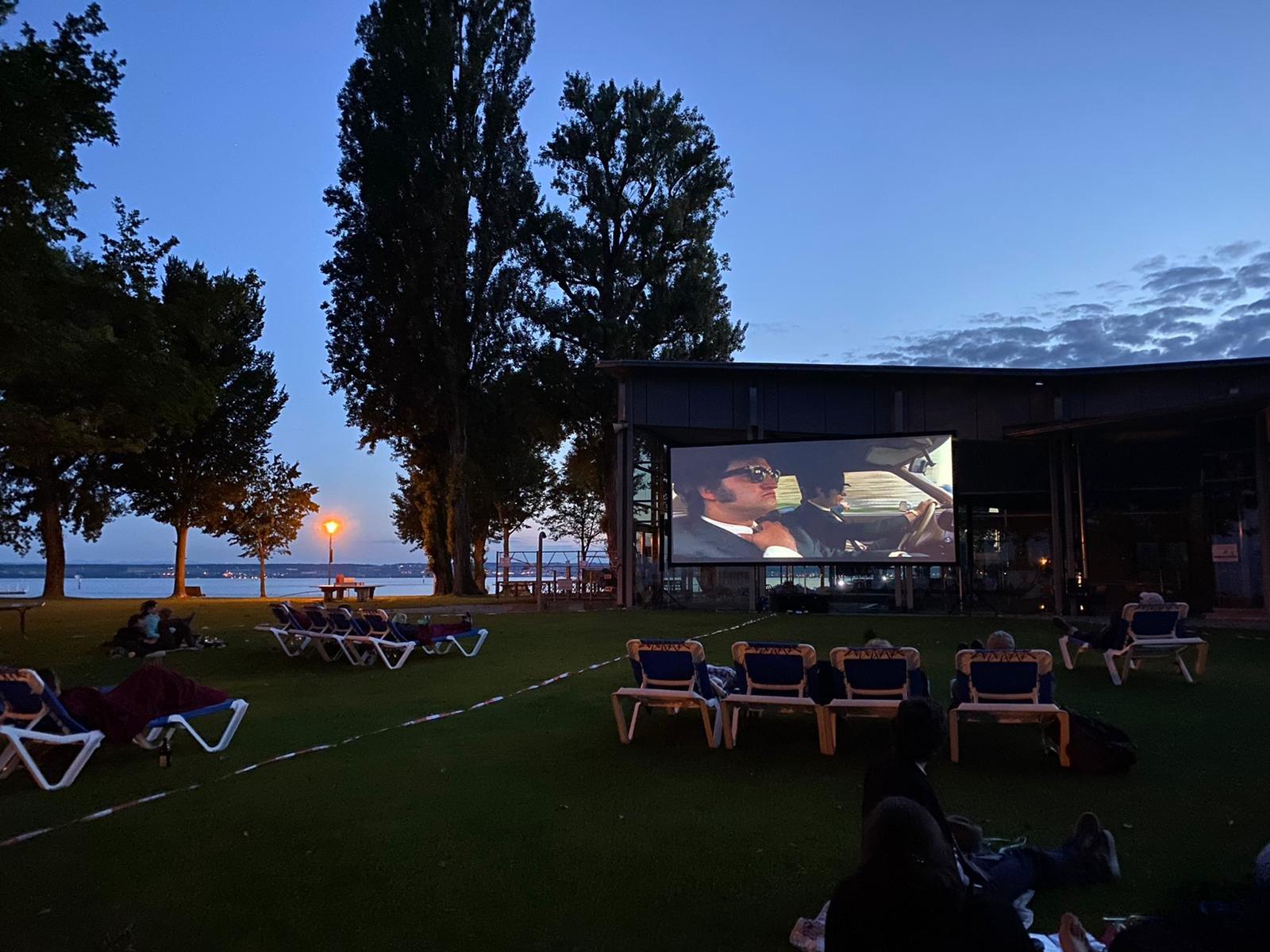 """Plakat zum Open Air Kino im Aquastaad Immenstaad mit dem Film """"The Blues Brothers"""""""