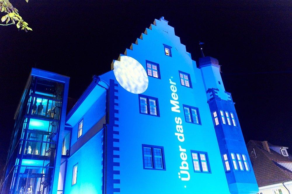 Lichtprojektion am Österreicher Schlösschen an der Kulturnacht
