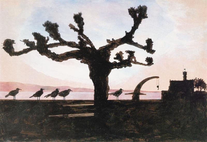 Dieter Groß (*1937), Sonntag, 1998/2006, Kunstdruck / Wasserfarben auf Papier, Museum Langenargen
