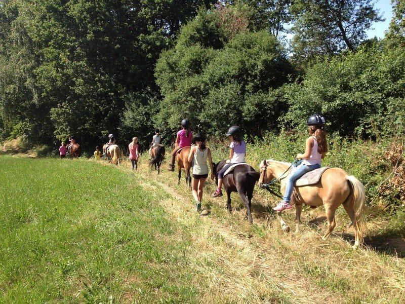 Kinder-Ponyreiten bei der Fancyfarm