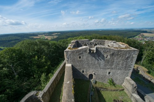 Blick von Weidelsburg Wohnturm Richtung Westen