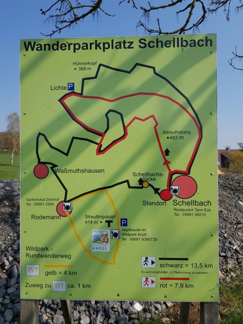 Infotafel Wanderparkplatz Schellbach