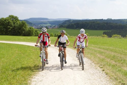 Radfahrer am Raichberg