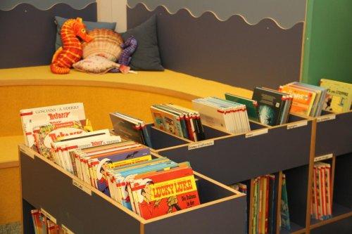 Lese-Ecke in der Stadtbibliothek Husum