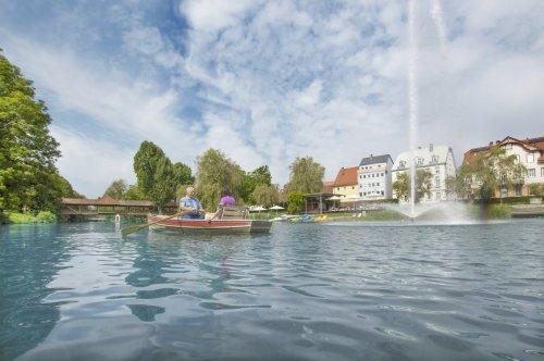 Bootsverleih am Donaustrand in Tuttlingen