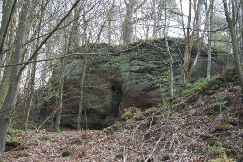 Sandsteinfelsen des Bildsteins ca. 249 Mio Jahre als