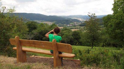 Blick vom Werra-Burgen-Steig Hessen ins Werratal bei Oberrieden