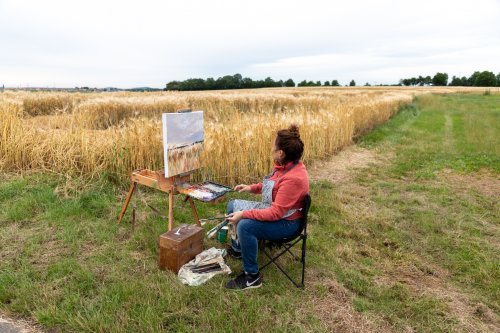 Freiluftmalerei beim Malersymposium 2021
