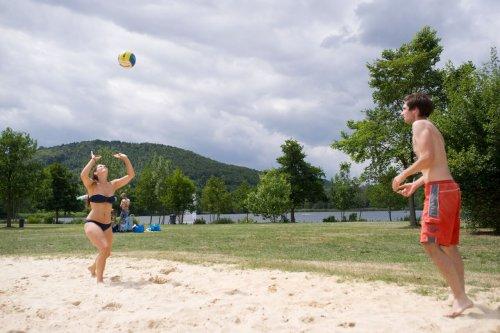 Volleyballfeld an der Stockelache
