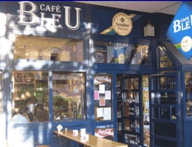 Außenansicht Café Bleu