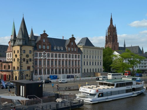 Museumsufer mit Historischem Museum Frankfurt