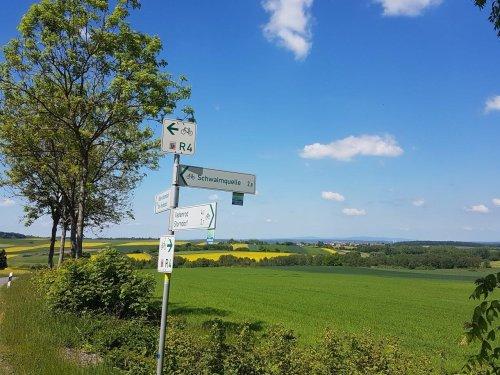 Beschilderung am Schwalm-Radweg