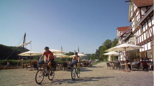 Radfahrer an der Wanfrieder Schlagd