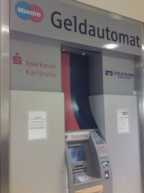 Sparkasse Geldautomat Karlsruhe