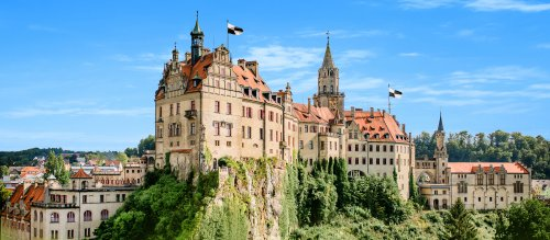 Schloss Sigmaringen auf dem Donaufelsen
