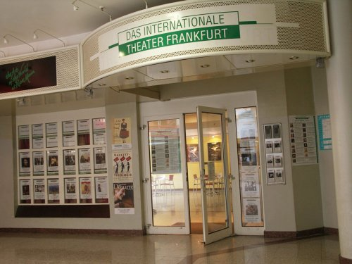 The entrance of the International Theatre Frankfurt