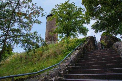 Aufstieg zur Burg Nohfelden