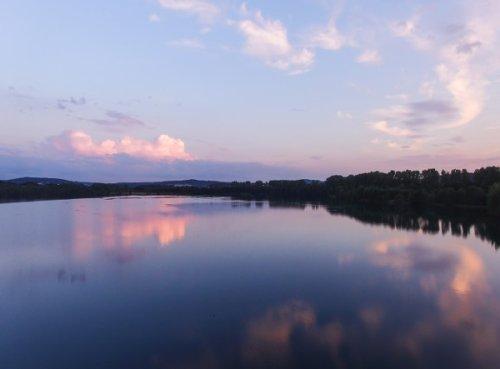Abendrot am Borkener See