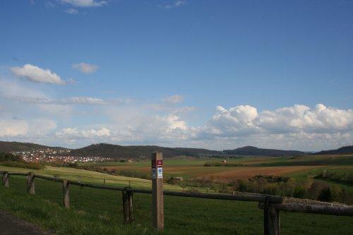Blick ins Elbetal Richtung Naumburg-Elbenberg
