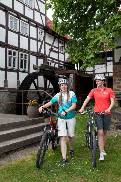 Radfahrer an der Steinmühle