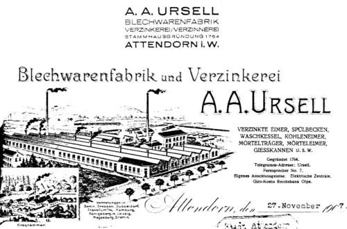 Historisches Bild der Fabrik