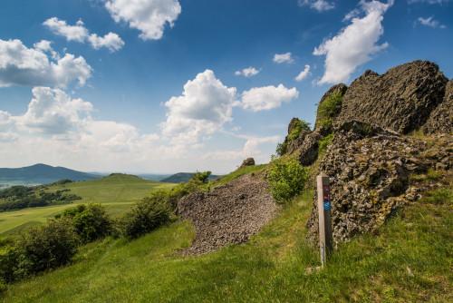 Habichtswaldsteig und Kassel Steig bei den Helfensteinen