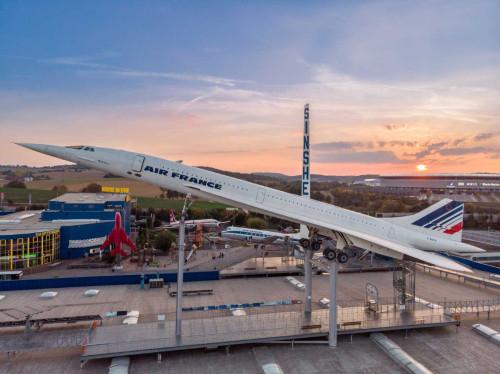 Concorde im Abendrot