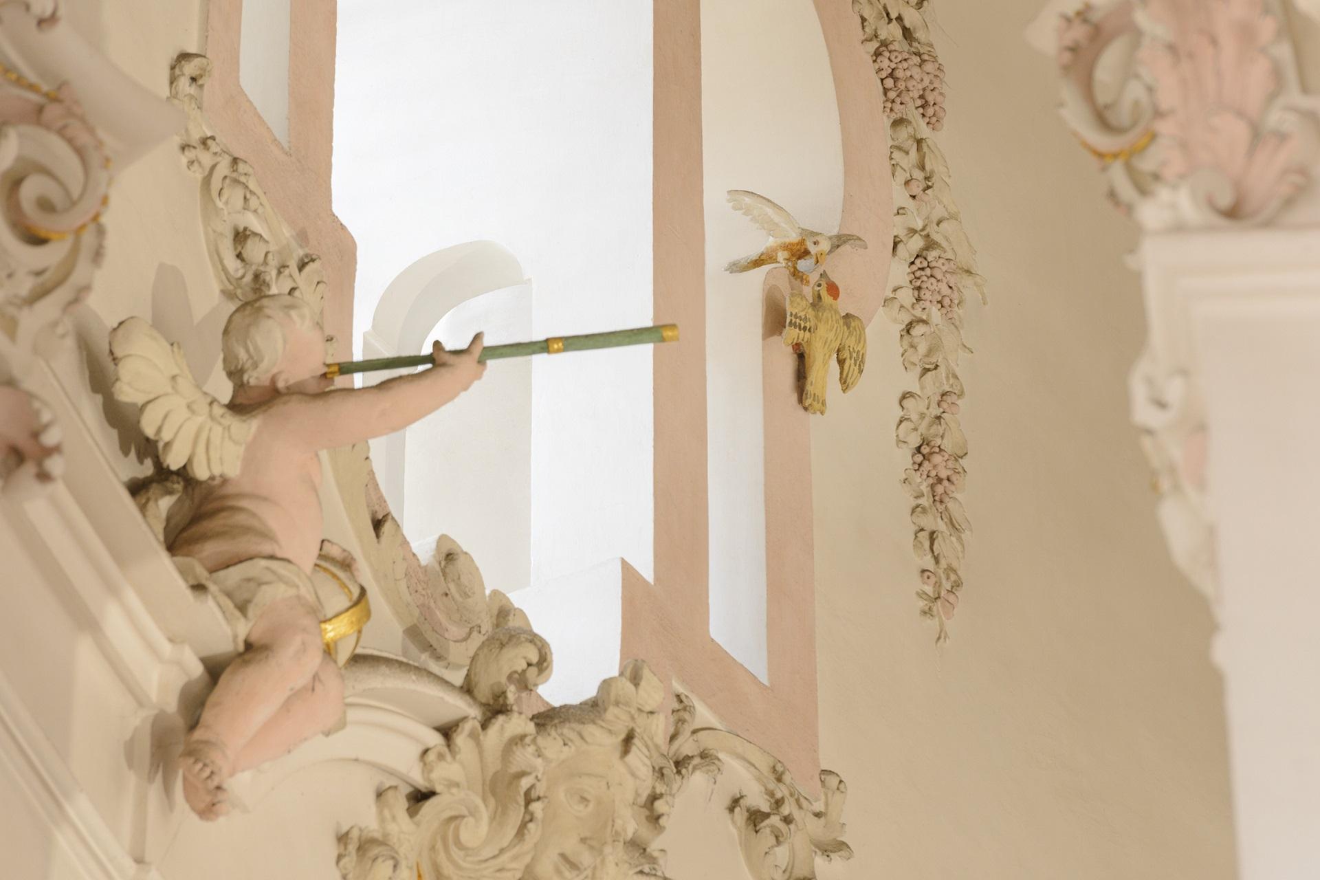 Stuckfigur in der Wallfahrtskirche in Steinhausen