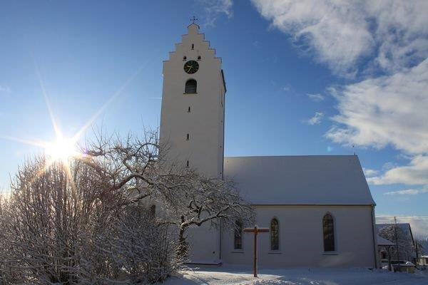 Pfarrkirche St. Maria Rorgenwies im Winter