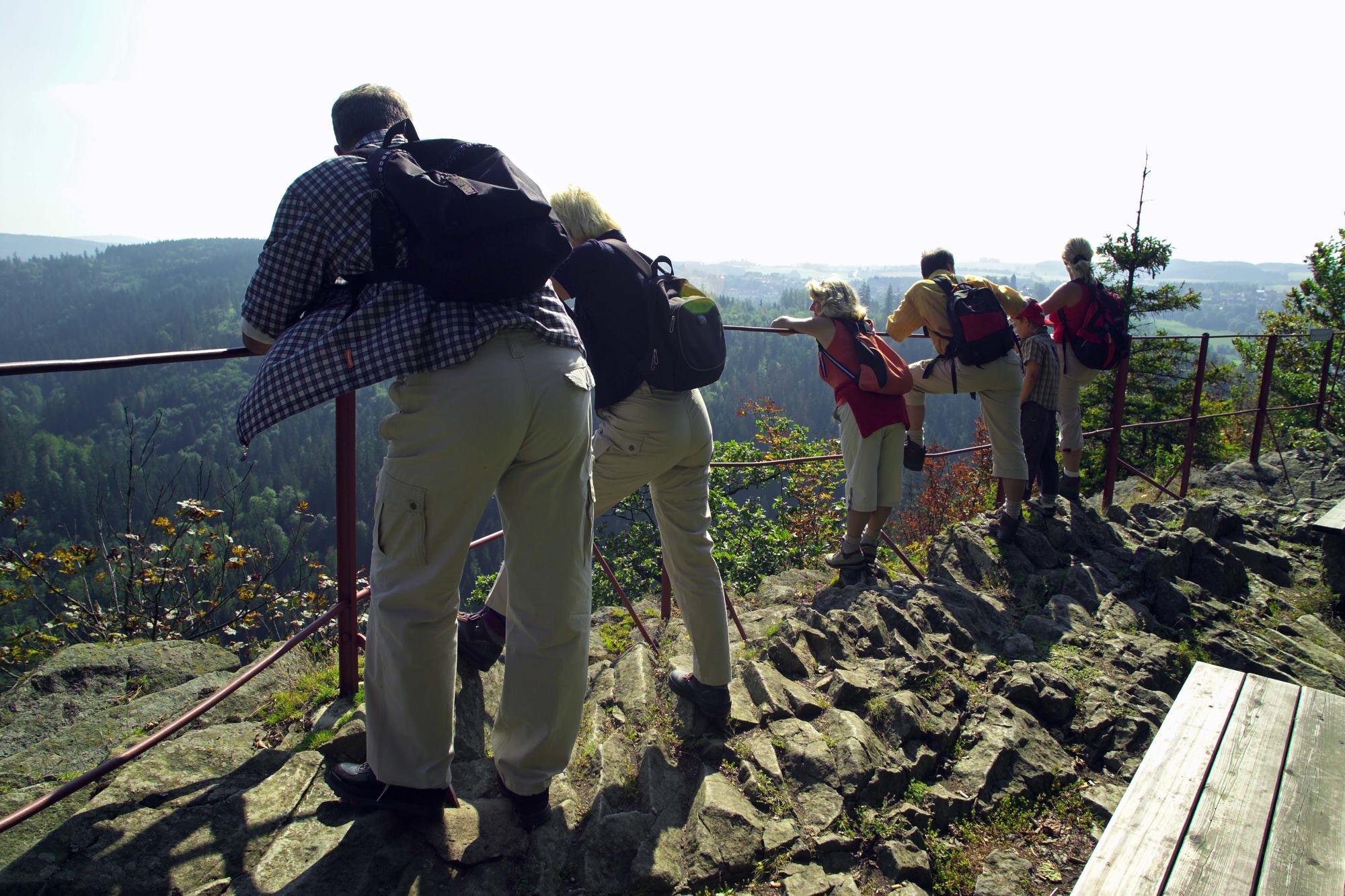 Aussichtspunkt König David über dem Höllental