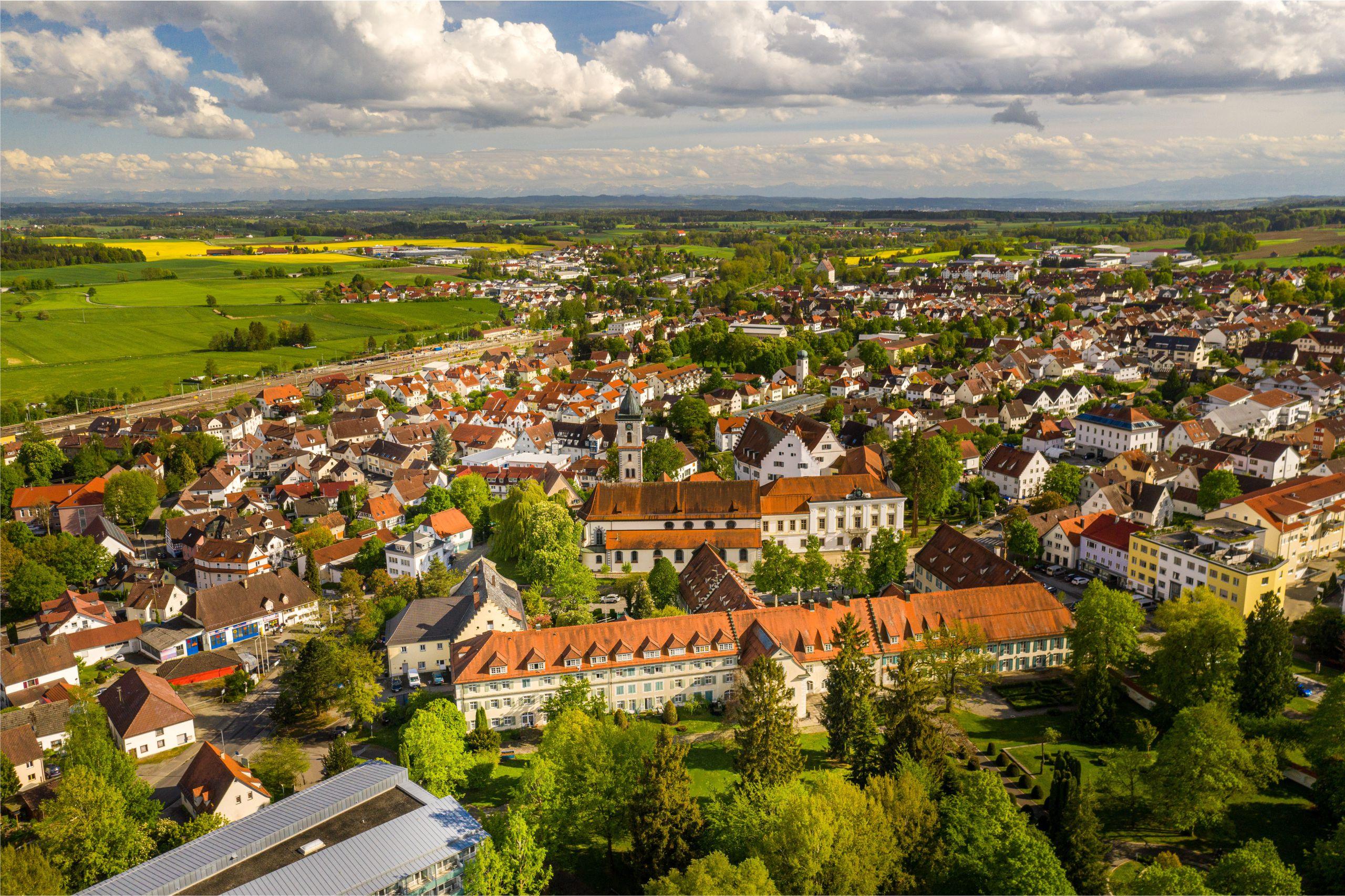 Über den Dächern von Aulendorf